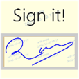Anti-Copy Signature Widget